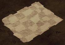 Szachownicowa podłoga na ziemi