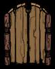 Stary wygląd drewnianej bramki (DST)