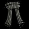 Disilluminated Black Pinstripe Pants