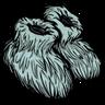 Distinguished Fuzzy Slippers Anthropomorphic Feline Blue