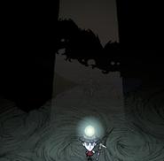 Halucynacje widoczne w świetle jaskini