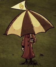 Pan z parasolką