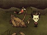 Zatopiona łódź