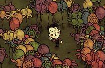 Wes otoczony balonikami