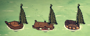 Żagiel palmowy na łodziach (DSS)