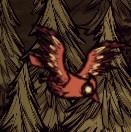 Pikujący czerwony ptak
