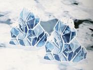 Lodowce podczas trwania zimy