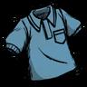 Collared Shirt (Rubber Glove Blue)