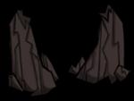 Strzelisty stalagmit częściowo zniszczony