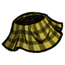 Butter Yellow Plaid Skirt