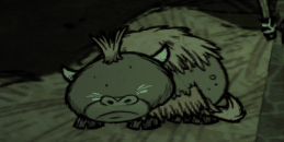 Baby Beefalo sleeping
