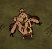Pig turnign into werepig