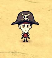 Wilson w kapeluszu pirackim