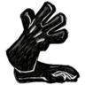 Long Gloves (Scribble Black)