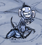 Małpa jaskiniowa kradnąca łup