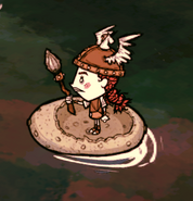 Wigfrid na okrągłym korkowym kajaku