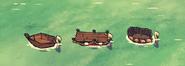 Żelazne śmigło na łodziach