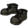 Disilluminated Black Steel-Toed Boots