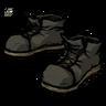 Disilluminated Black Steel-Toed Boots