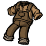 Werebeaver Brown Overalls