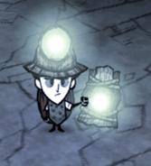 Wilson trzymający latarnię