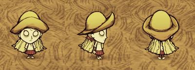 Wendy w kapeluszu przeciwdeszczowym