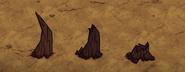 Stopnie niszczenia strzelistego stalagmitu