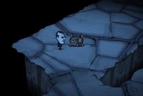 Zdobiona skrzynia w labiryncie w ruinach