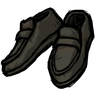 Disilluminated Black Loafers