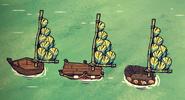 Lekki pierzasty żagiel na każdej łodzi