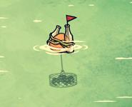 Pułapka morska ze złapanym homarem (DSS)