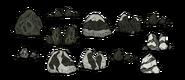 Stare tekstury skały księżycowej (DST)