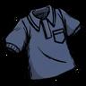 Collared Shirt Hyper-Intelligent Blue
