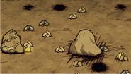 Księżycowa skała i zniszczenia meteorytów