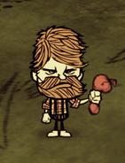 Woodie trzymający balon