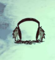 Królicze nauszniki zimą