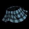 Classy Plaid Skirt Rubber Glove Blue