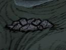 Kopiec ziemi stworzony przez robaka głębinowego