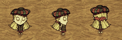 Wendy i ciepłe ubranie; tam o' shanter