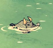 Martwy rybopies na wodzie (DSS)