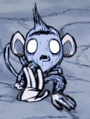 Małpa jaskiniowa w biegu