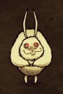 Wielki królik na darni leśnej