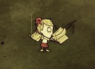 Wendy korzystająca z książki