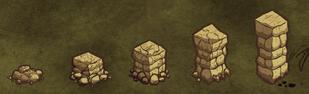 Poziomy kamiennego muru