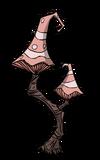Czerwone grzybowe drzewo