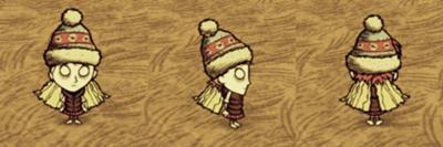 Wendy i przewiewna kamizelka; zimowa czapka