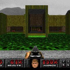 В консольных версиях уровень похож на замок, а не лабораторию (Playstation)