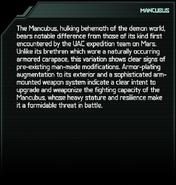 Mancubus Codex Entry