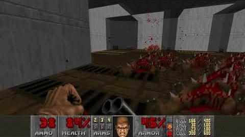 Doom II (1994) - MAP08 Tricks and Traps 4K 60FPS