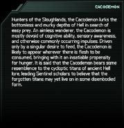Cacodemon Codex Entry
